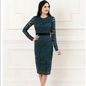 NWT Rachel Parcell Emerald Lace Dress size medium